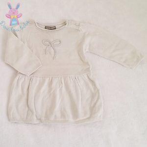 Robe grise mailles bébé fille 9 MOIS VERTBAUDET