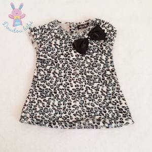 Robe velours imprimé léopard bébé fille 9 MOIS