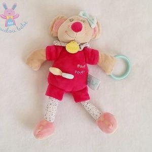 Doudou Souris Rosie beige rose jouet BABY NAT