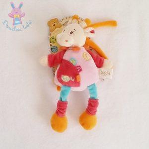 Doudou Girafe musical rose coloré BABY NAT