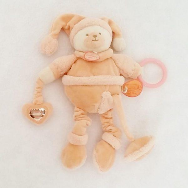 Doudou Ours macaron jouet bébé éveil DOUDOU ET COMPAGNIE