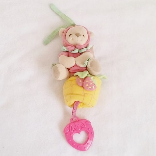 Doudou ours rose fraise FISHER PRICE