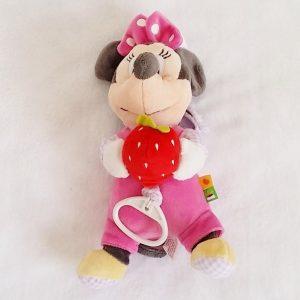 Doudou Minnie musical rose avec fraise DISNEY