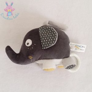 Doudou éléphant gris musical SAUTHON