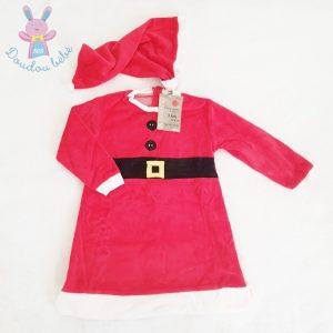 Robe de Noël + Bonnet rouge et blanc fille 3 ANS