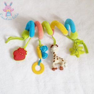 Spirale d'activités Sophie la Girafe colorée jouet bébé VULLI