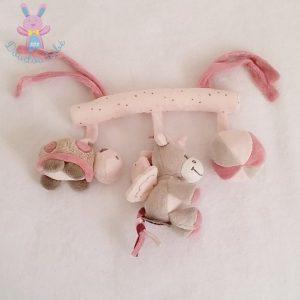 Trapèze rose gris Jade la Licorne jouet éveil bébé NATTOU