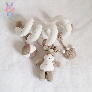 Spirale d'activités Cheval marron blanc jouet éveil bébé NATTOU