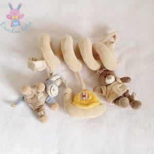 Spirale d'activités Ane Paco bleu beige jouet éveil bébé NOUKIE'S