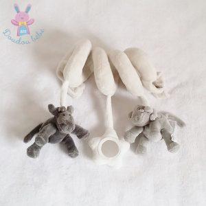 Spirale Poudre d'étoiles vaches gris beige jouet éveil NOUKIE'S