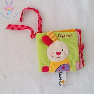 Livre tissu bébé Lapin explorer BABYSUN