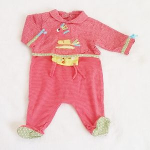 Pyjama coton fantaisie bébé fille 1 MOIS CATIMINI