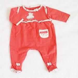 Pyjama coton orangé bébé fille 1 MOIS SERGENT MAJOR