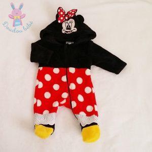 Combinaison déguisement MINNIE polaire bébé fille 1 MOIS DISNEY