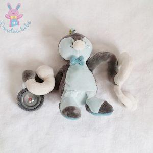 Spirale doudou Pingouin Louis et Scott gris jouet bébé NOUKIE'S