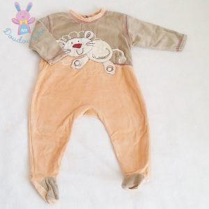 Pyjama velours saumon bébé garçon 12 MOIS