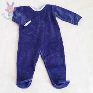 Pyjama bleu foncé bébé garçon 12 MOIS PETIT BATEAU