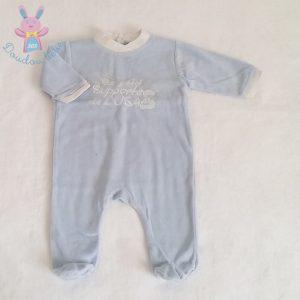 Pyjama velours bleu bébé garçon 3 MOIS USAP