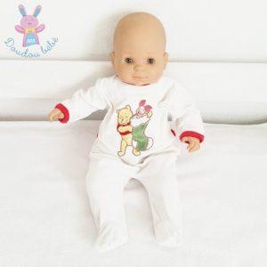 Pyjama velours blanc Winnie Noël bébé 3 MOIS DISNEY