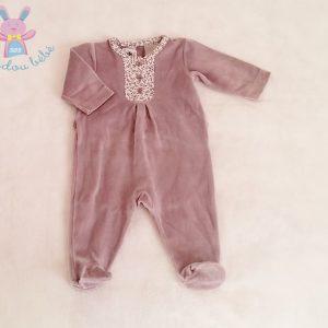 Pyjama velours mauve bébé fille 3 MOIS PETIT BATEAU