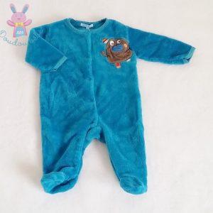 Pyjama polaire turquoise bébé garçon 3 MOIS