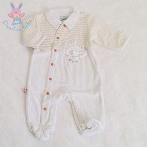 Pyjama velours bébé garçon 3 MOIS VERTBAUDET