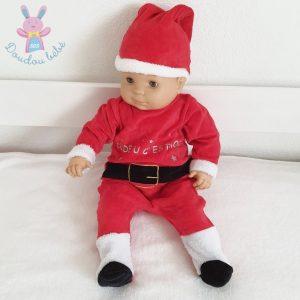 Pyjama tenue de Noël rouge avec bonnet bébé 3 MOIS