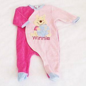 Pyjama velours Winnie bébé fille 3 MOIS DISNEY