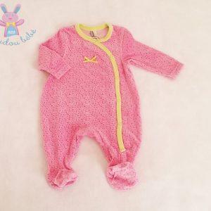 Pyjama velours rose et anis bébé fille 3 MOIS ORCHESTRA