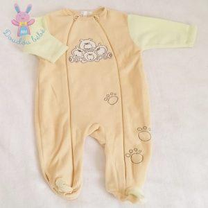 Sur-pyjama polaire jaune bébé garçon 6 MOIS