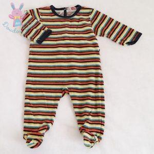 Pyjama velours rayé bébé garçon 6 MOIS DPAM