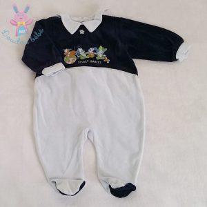 Pyjama velours bleu bébé garçon 6 MOIS DISNEY