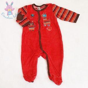 Pyjama velours rayé bébé garçon 6 MOIS ORCHESTRA