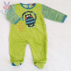 Pyjama velours vert bébé garçon 6 MOIS DPAM