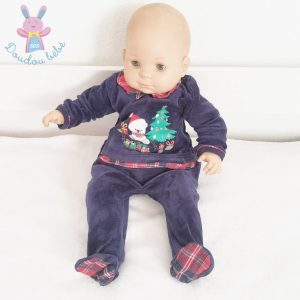 Pyjama de Noël velours marine bébé 6 MOIS SERGENT MAJOR