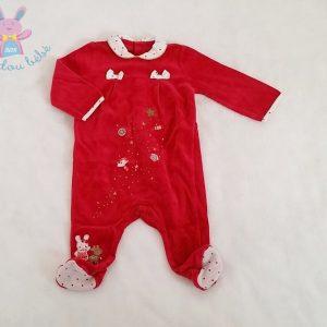 Pyjama velours rouge bébé fille 6 MOIS SERGENT MAJOR