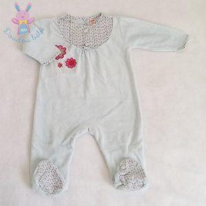 Pyjama velours bleu bébé fille 6 MOIS DPAM