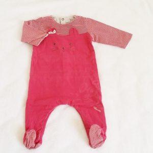 Pyjama chat coton rose bébé fille 9 MOIS CATIMINI