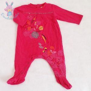 Pyjama coton fuchsia fleurs bébé fille 9 MOIS CATIMINI