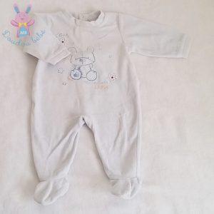Pyjama velours bleu bébé garçon 9 MOIS ABSORBA