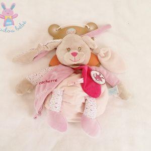 Doudou Lapin Diablotine range-pyjama cachette rose BABY NAT