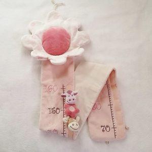 Toise Lola la Vache velours rose décoration NOUKIE'S