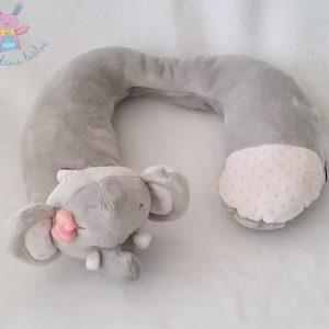 Tour de cou Eléphant velours gris NATTOU