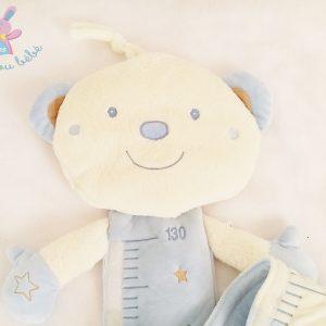 Toise Ours Neil blanc bleu bébé SAUTHON