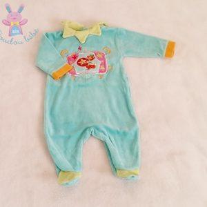 Pyjama velours bleu circus bébé fille 1 MOIS VERTBAUDET