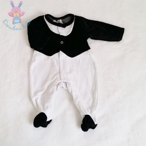 Pyjama chic noir et blanc bébé garçon 1 MOIS ORCHESTRA