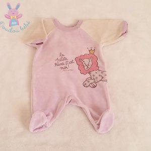 Pyjama velours mauve bébé fille Naissance PETIT BATEAU