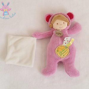 Doudou d'amour Poupée rose mouchoir BABY NAT