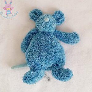 Doudou Souris poils bleu chiné 25 cm HAPPY HORSE