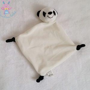 Doudou plat Panda blanc et noir FL B.V. CREDIT AGRICOLE